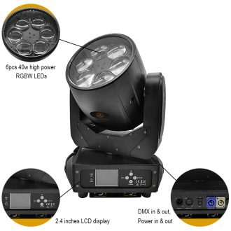 IMRELAX Lighting 6x40w led moving head light