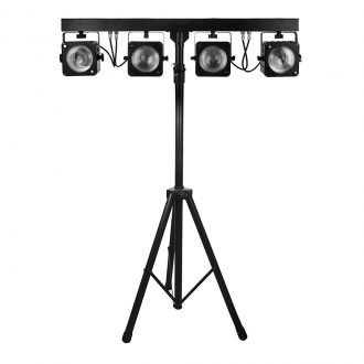 4pcs 30W RGB 3in1 COB LED Par Light System with 2.5 Meter Stand