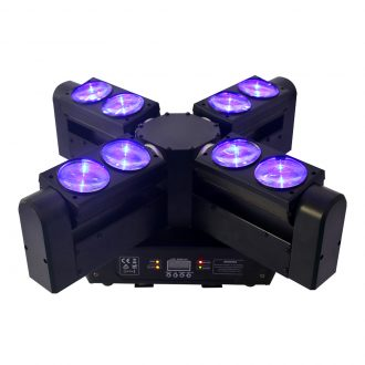 IM-EL0812 8*12W RGBW 4in1 LED Infinite Rotation Moving Head Big Wind Wheel