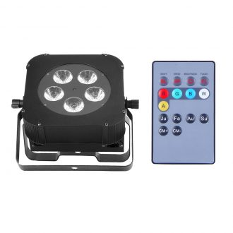 IM-BTPL0518 Battery 5*18W 6IN1 RGBWA+UV Wireless Led Par Light With IR Remote Control Wireless Battery LED Par Light